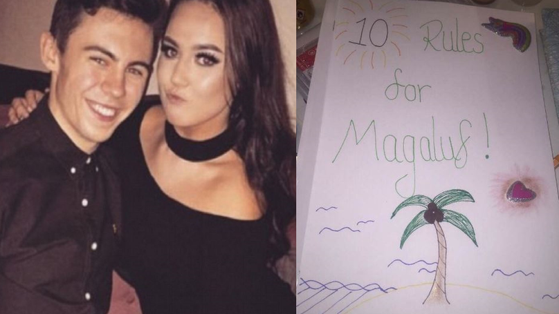 This Lad's Girlfriend Made Him A 'Rulebook' For Magaluf And She's Taking No Prisoners