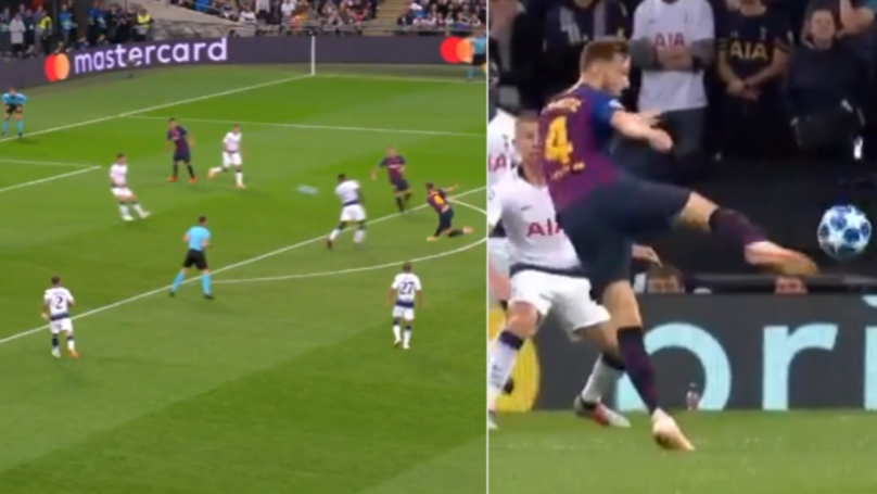 Ivan Rakitic Scores Acrobatic, Half-Volley Screamer From 25 Yards vs Spurs