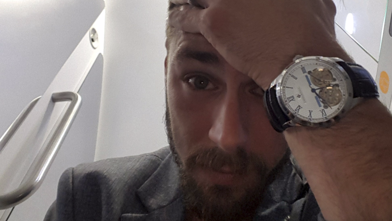 Guy Fuming After Accidentally Flying To Las Vegas Instead Of London