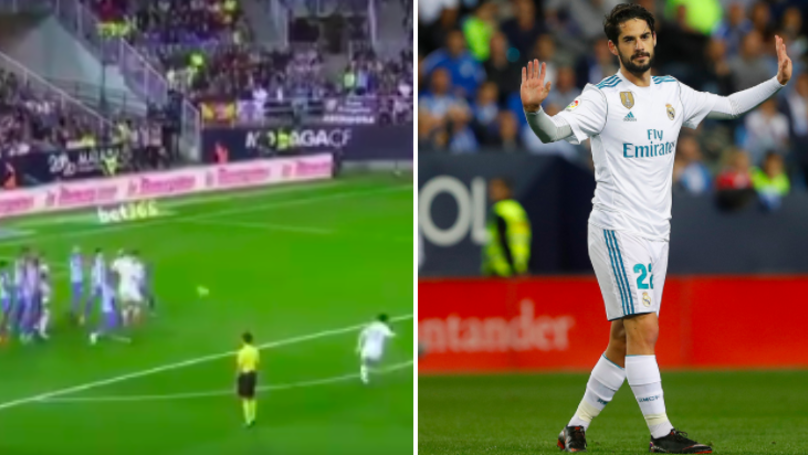 Watch: Isco Scores Gorgeous Free-Kick, Apologises To Malaga Fans