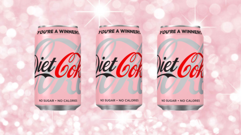 Pink Diet Coke Cans Are Coming To The UK And You Can Win £1,000