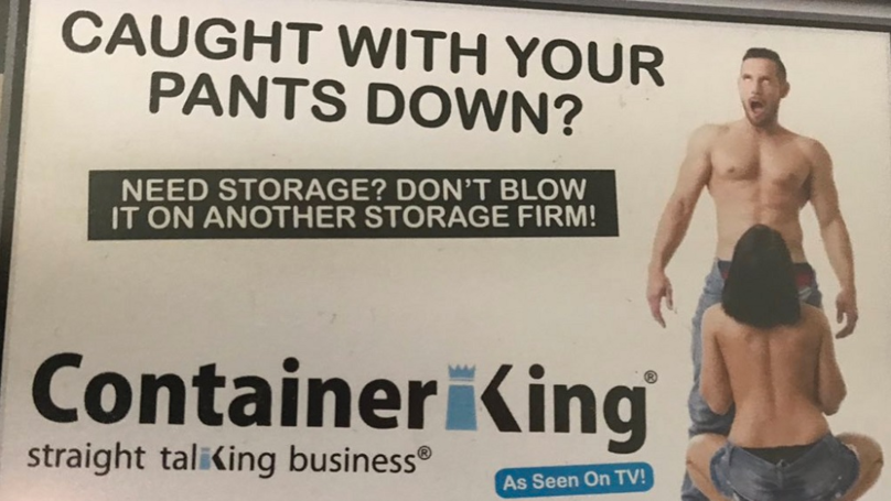 Storage Advert Slammed For 'Sexist' Depiction Of Woman Performing Sex Act