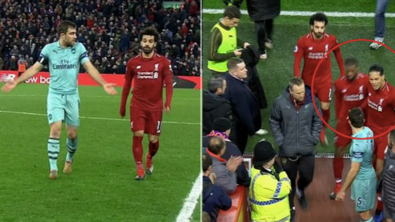 Van Dijk Reacted Like A True Liverpool Captain After Sokratis Confronted Mo Salah