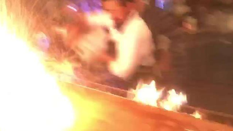Chaos At Salt Bae's Restaurant As Four Tourists Are Set On Fire