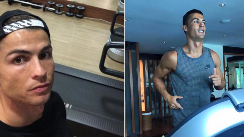 Cristiano Ronaldo Trains In The Gym At 2am After Champions League Away Games