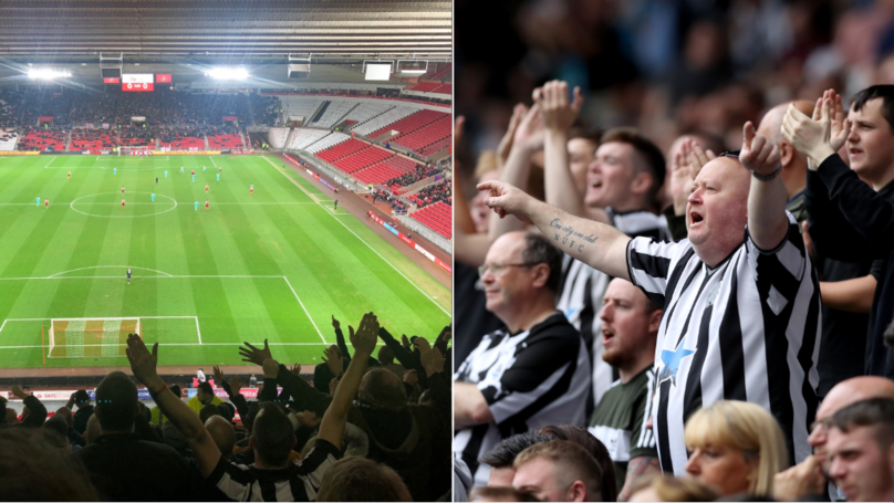 "Newcastle Fans Chant ""We've Seen You Cry On Netflix"" To Sunderland Supporters"