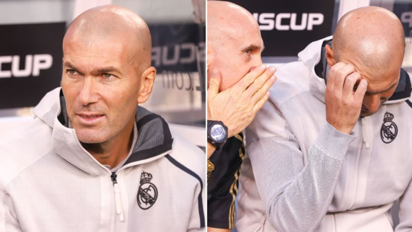 Zinedine Zidane Didn't Even Return To The Dressing Room After 7-3 Defeat To Atletico Madrid