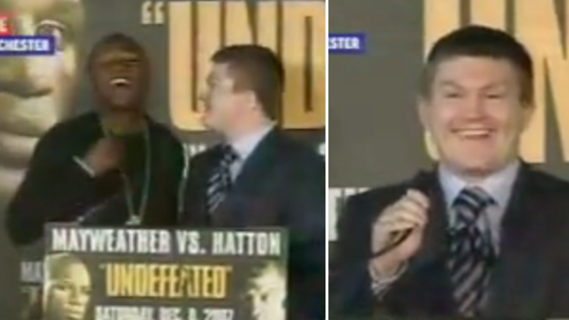 WATCH: The Memorable And Hilarious Press Conference Between Mayweather And Hatton