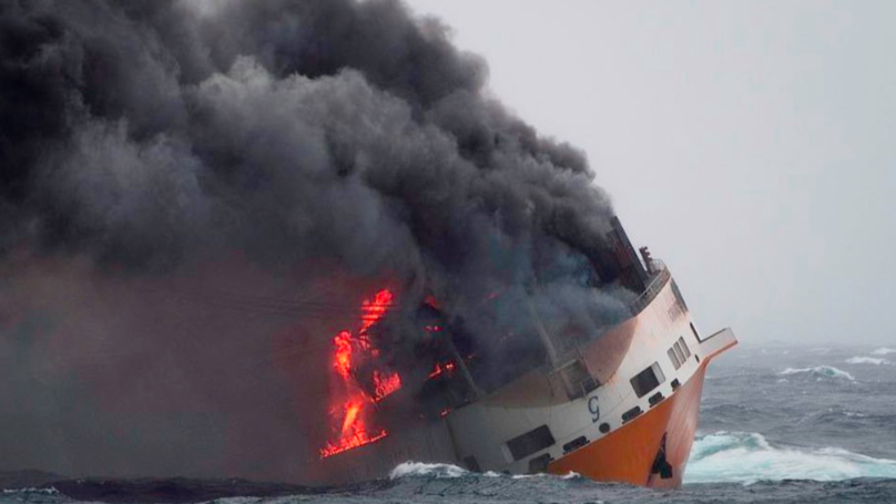 Ship Carrying 2,000 Cars Worth Millions Of Pounds Catches Fire And Sinks