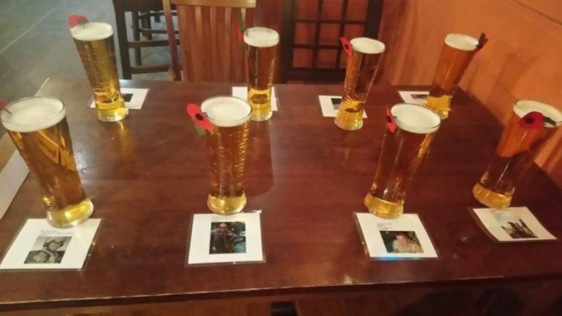 Soldier Buys Eight Pints For Fallen Comrades In Remembrance Day Tribute