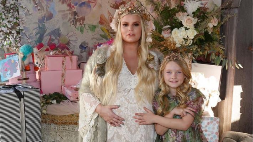 Pregnant Jessica Simpson 'Reveals' Baby Name In Pictures From Her Shower