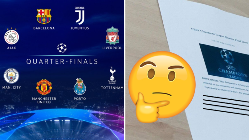Twitter Users Claim A Uefa Director Has Leaked The Champions