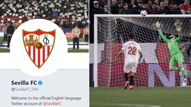 Sevilla Send David De Gea A Message On Twitter Ahead Of Champions League Clash