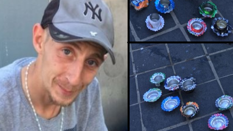 This Homeless Man Is Crafting Cans Into Art To Make Money