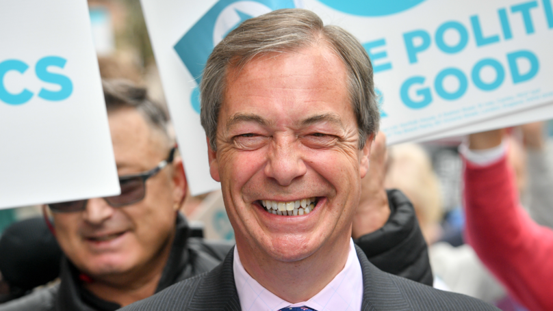Someone Has Thrown A Milkshake Over Nigel Farage