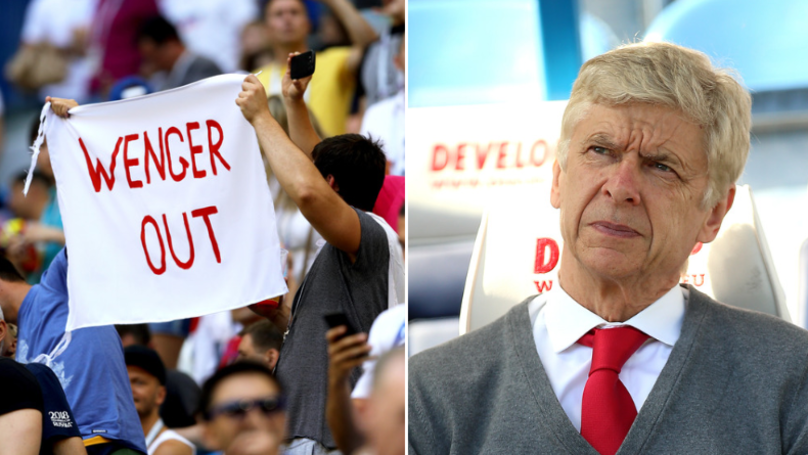 Arsene Wenger Still Can't Get Away From 'Wenger Out' Signs