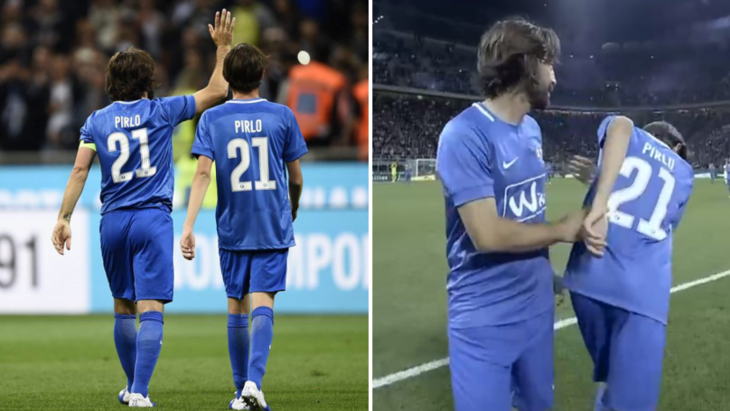 Pirlo Leaves San Siro Pitch To Standing Ovation, Is Replaced By His 14-Year Old Son