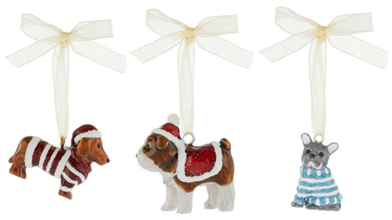 Monsoon Is Selling Adorable Dachshund And Bulldog Christmas Decorations