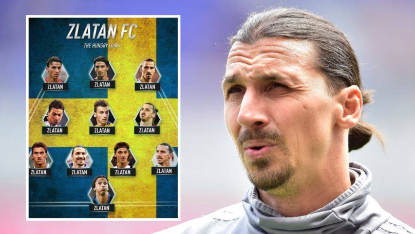 Zlatan Ibrahimovic Picks Himself XI Times In His Perfect Team