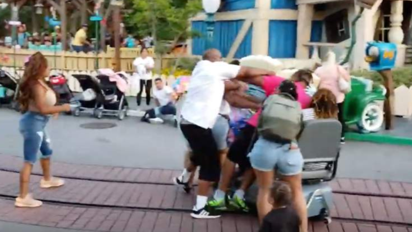 Shocking Footage Shows Huge Fight Break Out At Disneyland In California