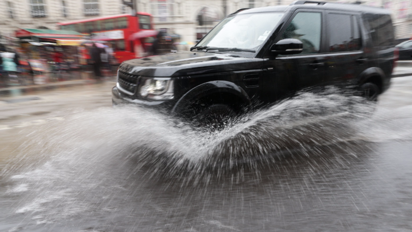 Driver Facing Fine After Splashing Woman And Children