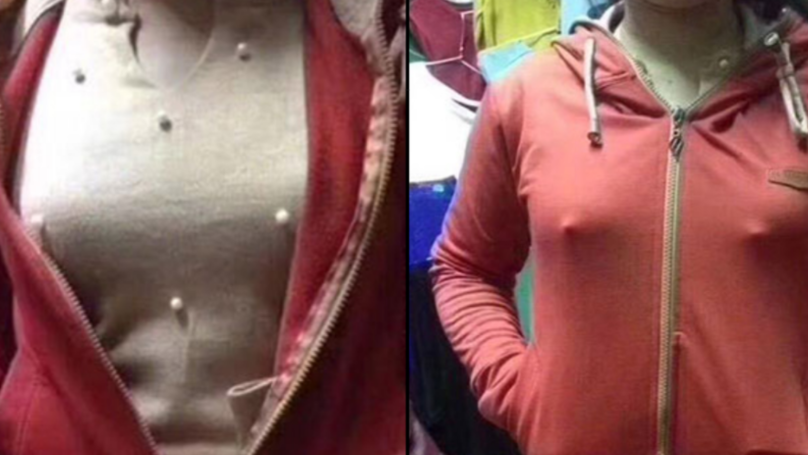 Woman's Horror After Realising Beaded Top Makes It Look Like Her Nipples Are Out