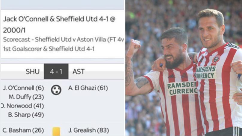 Punter Wins Big After Ridiculous £5 Single Bet Sheffield United vs Aston Villa