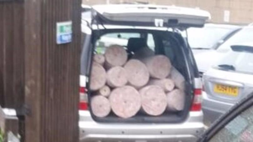 Dad Discovers Huge Slabs Of Doner Meat Packed Inside Car