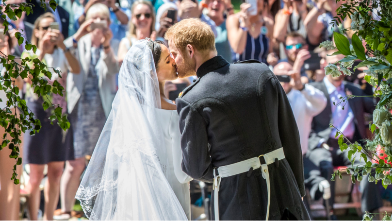 Royal Wedding 2018: Prince Harry and Meghan Markle Share First Kiss As Married Couple