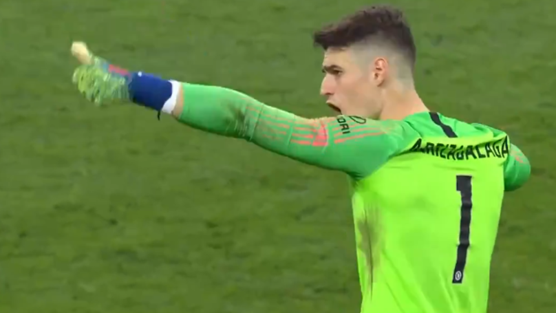 Kepa Arrizabalaga Refuses To Be Subbed During The League Cup Final