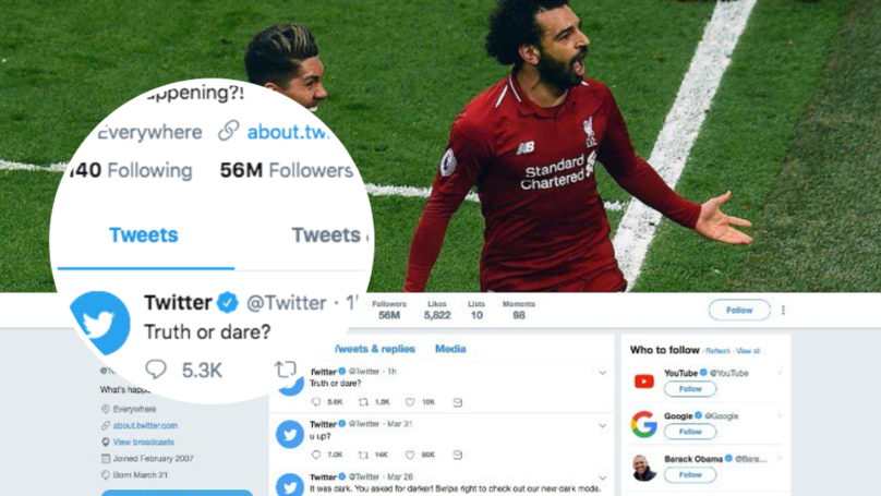 Twitter Have Changed Their Header To A Picture Of Mohamed Salah And Roberto Firmino