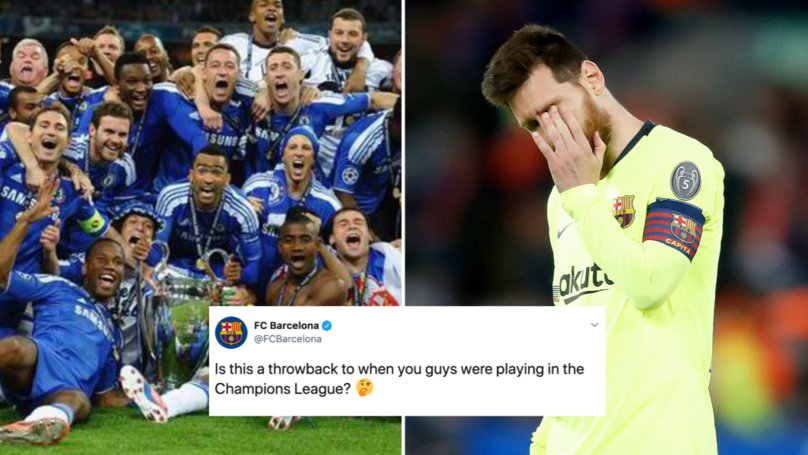 Chelsea And Barcelona Engage In Champions League Banter Ahead Of Friendly
