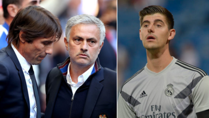 How Thibaut Courtois Reacted To Jose Mourinho And Antonio Conte Being Linked With Real Madrid