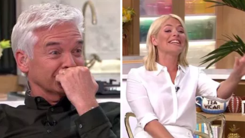 Holly Willoughby And Phillip Schofield In Stitches After Being Taught How To Poo