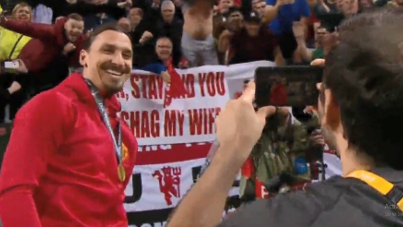 WATCH: Zlatan Ibrahimovic Takes A Picture With The Infamous United Flag | SPORTbible