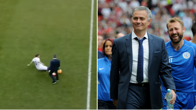 The Story Behind Jose Mourinho Tackling Olly Murs At Soccer Aid