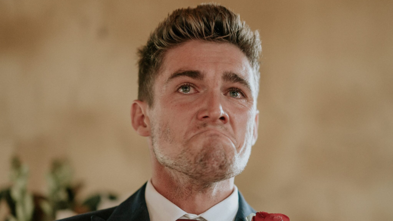Groom Reveals The Story Behind His Tears At His Wedding