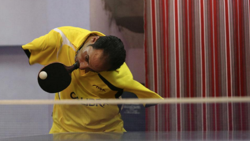 Meet The Lad Who Plays Table Tennis With His Mouth