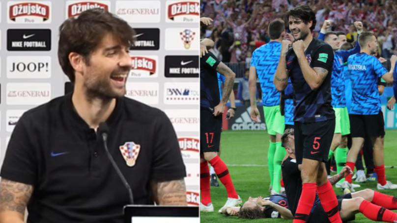 "Vedran Corluka Asked To Stop For English Press, Says ""It's Not Coming Home"" And Keeps Walking"