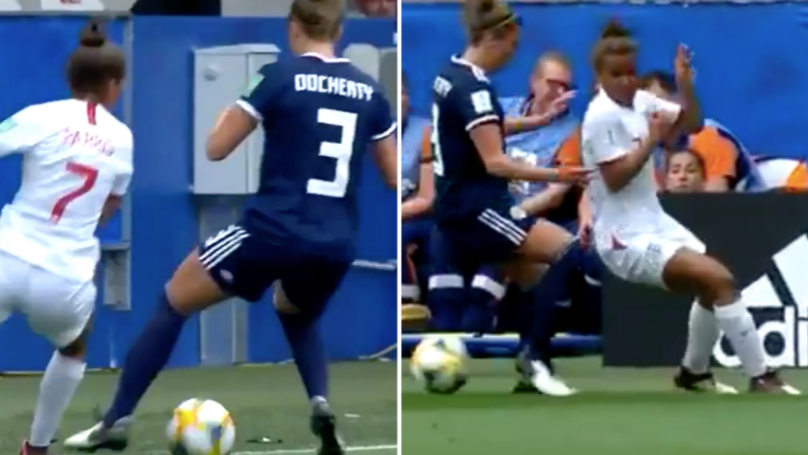 Nikita Parris Pulls Off Silky Smooth Skill In England Women's World Cup Opener