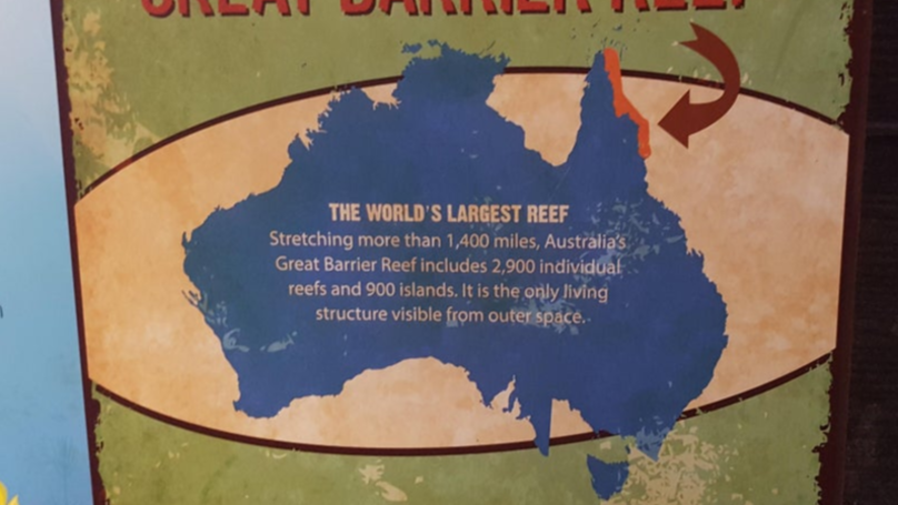 People Can't Get Over This Map Of Australia At An American Zoo