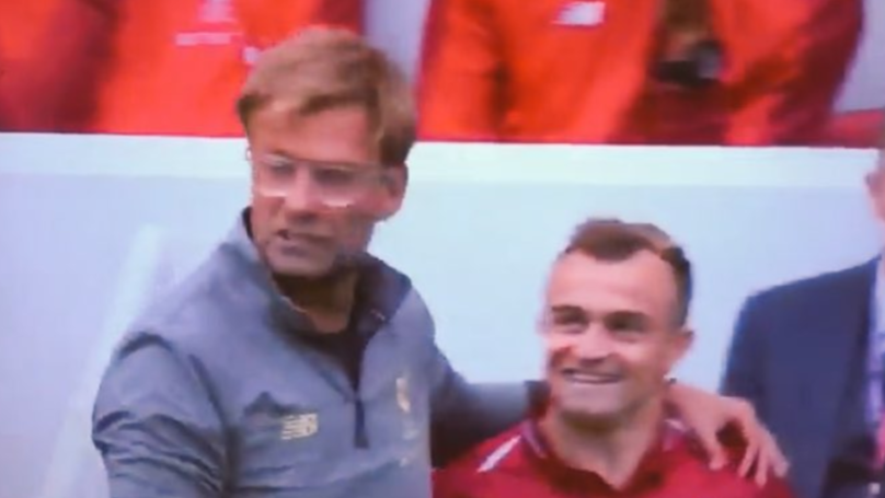Find Someone That Looks At You Like Xherdan Shaqiri Looks At Jurgen Klopp