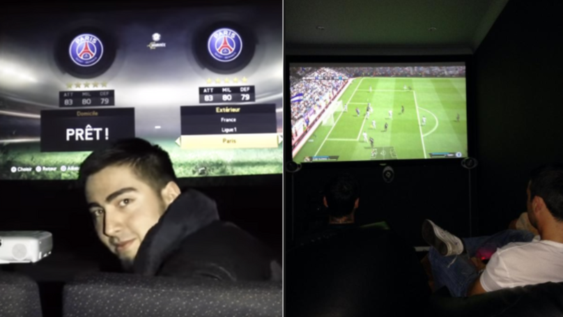 YouTubers Sneak Into Cinema And Play FIFA All Night Long