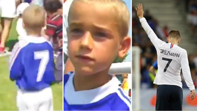 Antoine Griezmann Getting Autographs From France Players In 1998 Is The Best Thing You'll Watch Today