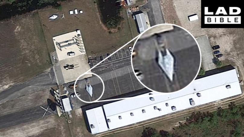 Does This Google Maps Image Show A Brand New Hypersonic SR-72 US Spy Plane Sitting In A Car Park?