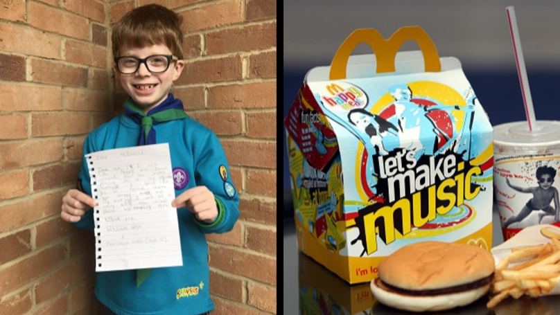 Young LAD Calls For Kids To Boycott McDonald's Happy Meal Toys