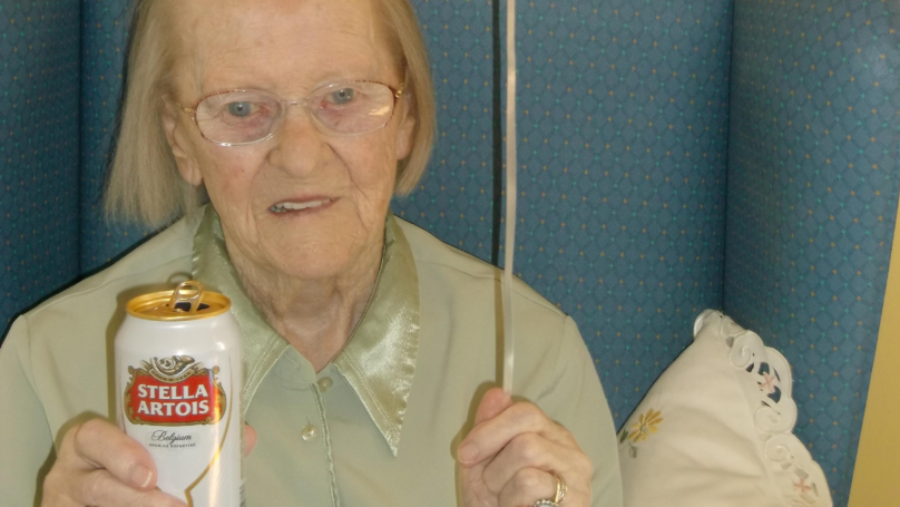 This 100-Year-Old Woman Is Partial To A Can Of Stella