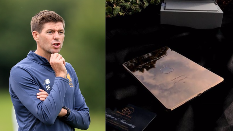 People Slam Steven Gerrard For Getting 6 Year Old Daughter 18 Karat Plated iPad