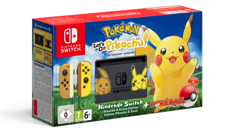 ​New Pokémon Let's Go! Nintendo Switch Bundle Stars Pikachu & Eevee