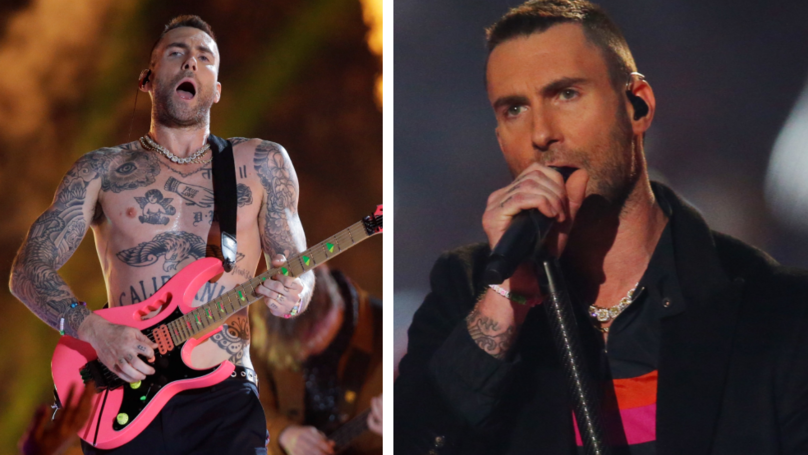 Everyone's Saying The Same Thing About Adam Levine's Topless Super Bowl Performance